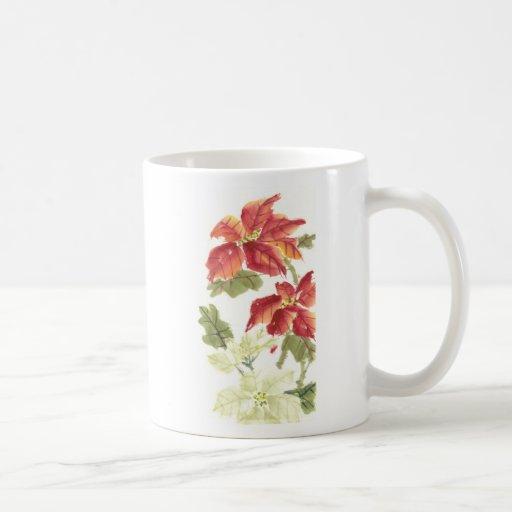 Poinsettias Taza De Café