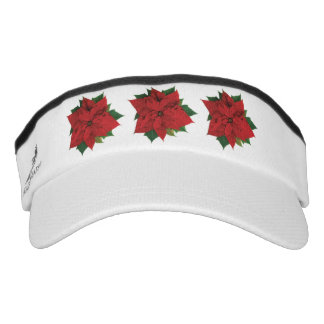 Poinsettias Visor
