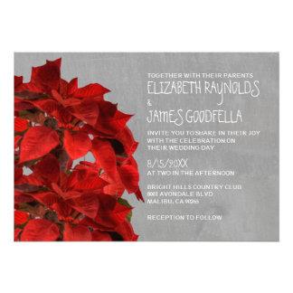 Poinsettias Wedding Invitations Custom Invitations