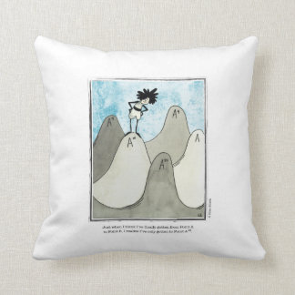 POINT A cartoon by Ellen Elliott Throw Pillow