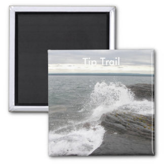Point Abbaye  Tip Trail 2 Inch Square Magnet