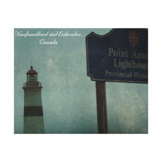 Point Amour Lighthouse, Newfoundland and Labrador Canvas Print
