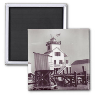 Point Au Fer Reef Lighthouse 2 2 Inch Square Magnet
