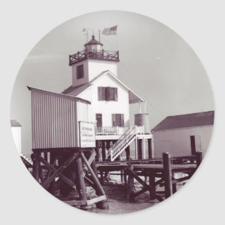 Point Au Fer Reef Lighthouse 2 Classic Round Sticker