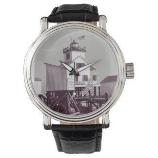Point Au Fer Reef Lighthouse 2 Wrist Watch