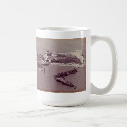 Point Au Fer Reef Lighthouse Coffee Mugs