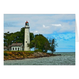 Point aux Barques Lighthouse Card