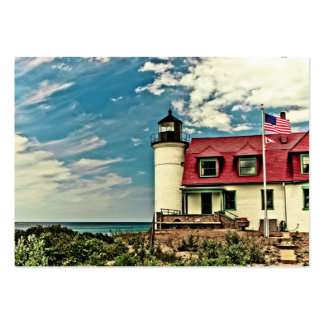 Point Betsie Lighthouse Large Business Cards (Pack Of 100)