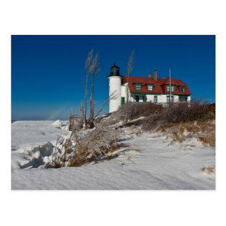 Point Betsie Lighthouse in Winter Postcard