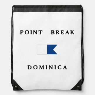 Point Break Dominica Alpha Dive Flag Drawstring Bags