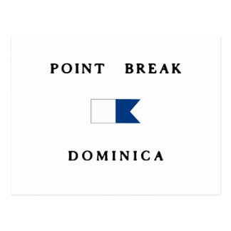 Point Break Dominica Alpha Dive Flag Postcard