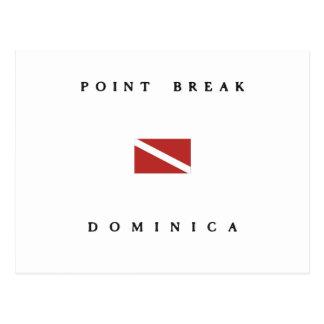 Point Break Dominica Scuba Dive Flag Postcard