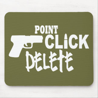 Point Click Delete Mouse Pad