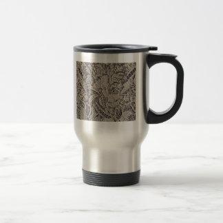 Point de Gaze Antique Lace Design Travel Mug