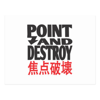 point&destroycopy.ai post card
