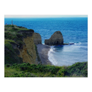 Point Du Hoc Normandy, France Poster