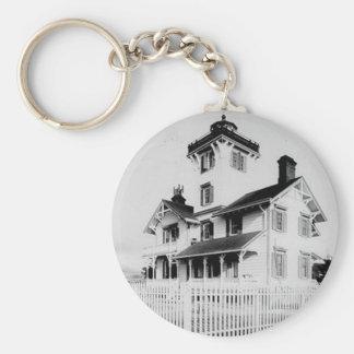 Point Fermin Lighthouse Basic Round Button Keychain