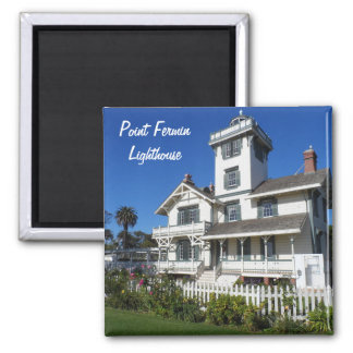 Point Fermin Lighthouse, San Pedro 2 Inch Square Magnet