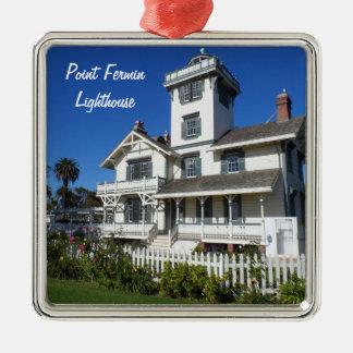 Point Fermin Lighthouse, San Pedro Metal Ornament