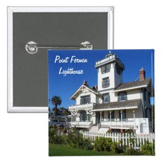 Point Fermin Lighthouse, San Pedro Pinback Button