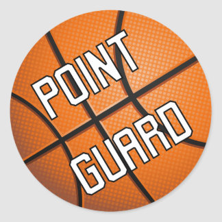Point Guard Basketball Classic Round Sticker
