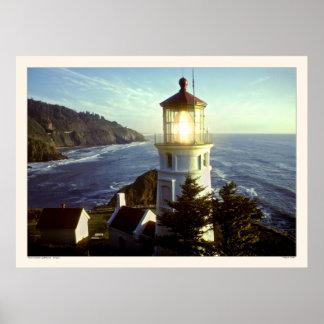 Point Heceta Lighthouse - Oregon Poster