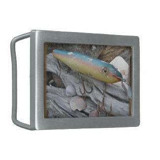 Point Jude Cape Codder Antique Fishing Lure Rectangular Belt Buckle