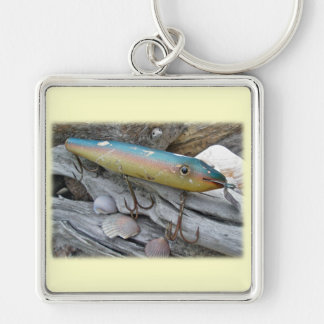 Point Jude Cape Codder Vintage Lure Series Silver-Colored Square Keychain