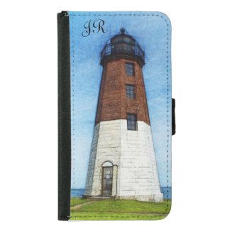 Point Judith light monogram iPhone or galaxy case