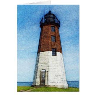 Point Judith Lighthouse card Greeting Card
