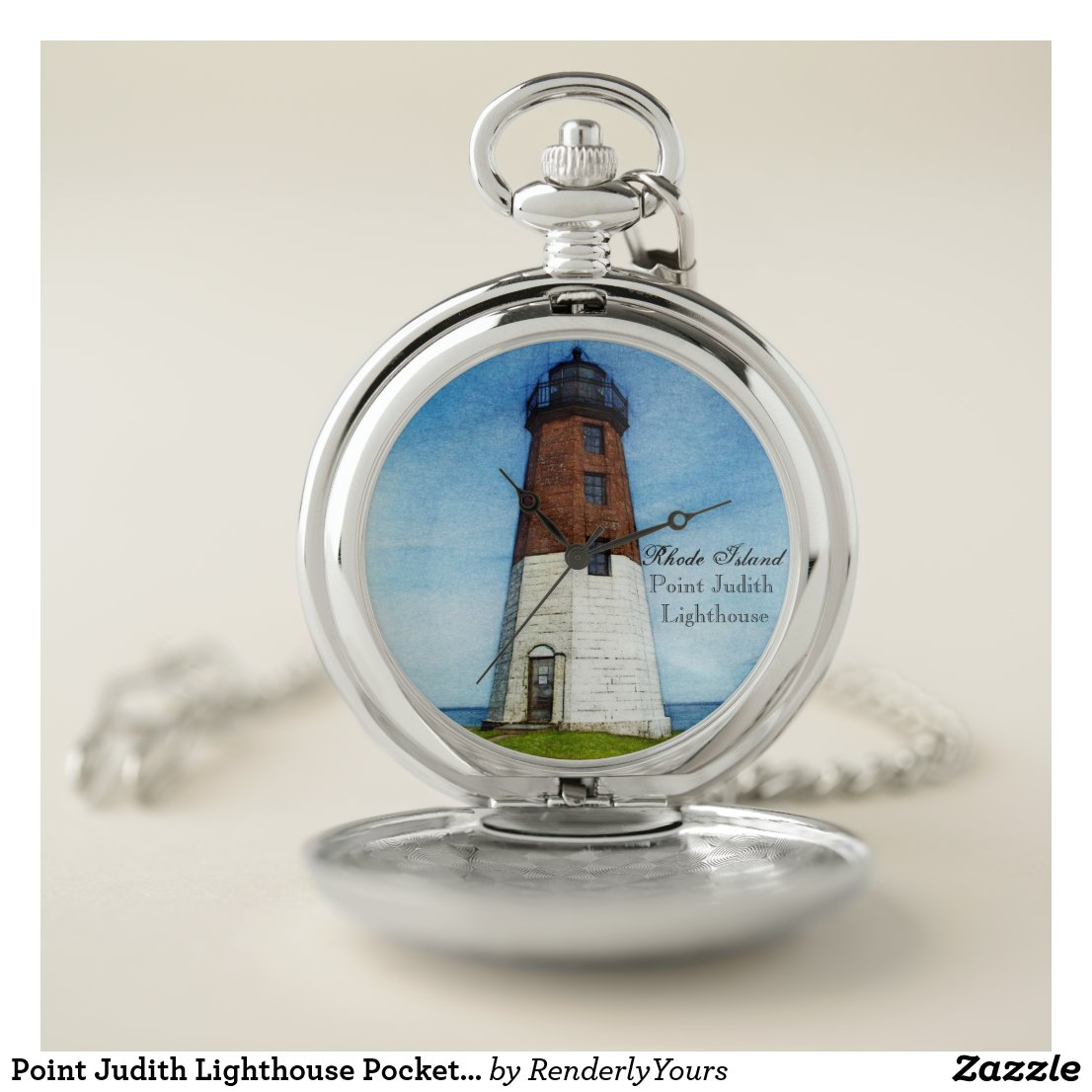 Point Judith Lighthouse Pocket Watch