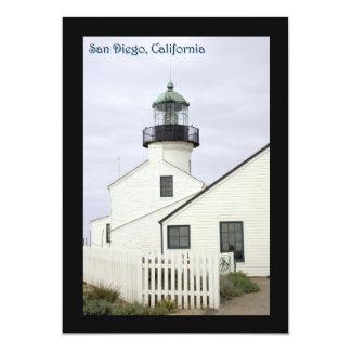 "Point Loma de San Diego California Invitación 5"" X 7"""