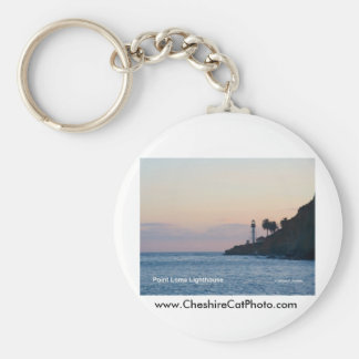 Point Loma Lighthouse California Products Basic Round Button Keychain