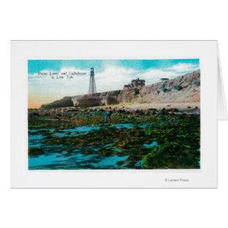Point Loma y faro con marea baja Tarjeton