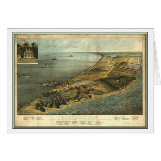 Point Lookout Prison for Confederate Prisoners Greeting Card