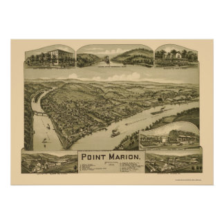 Point Marion, PA Panoramic Map - 1902 Poster