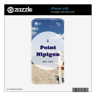 Point Nipigon Skins For iPhone 4S