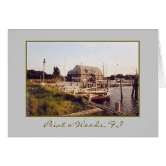 'Point o' Woods Yacht Club & Marina' Blank Card