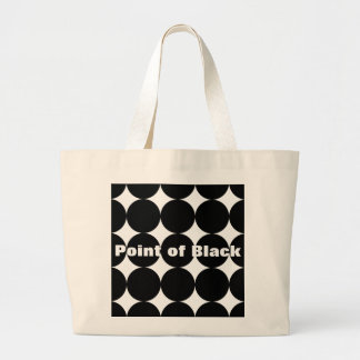Point of Black Jumbo Tote BagZazzle.de