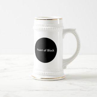 Point of Black Beer Stein