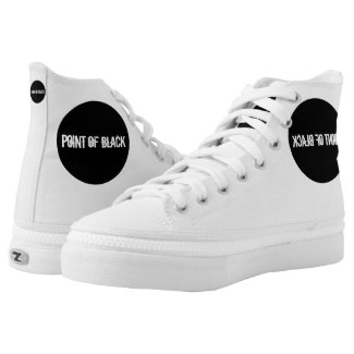 """""""Point of Black"""" High-Top Sneakers"""