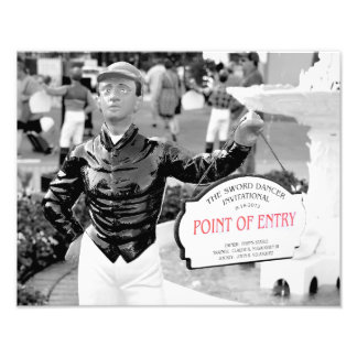 """Point of Entry"" Champion Turf Horse Photo Print"