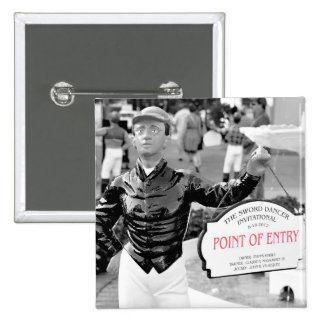 Point of Entry Lawn Jockey Pinback Buttons