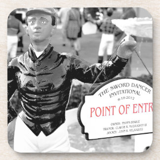 Point of Entry Lawn Jockey Beverage Coaster