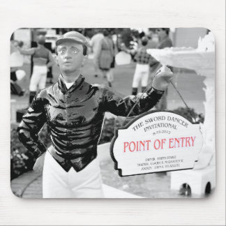Point of Entry Lawn Jockey Mousepads