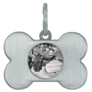 Point of Entry Lawn Jockey Pet ID Tag