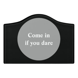 POINT OF INTEREST + your own sign, text & backgr. Door Sign
