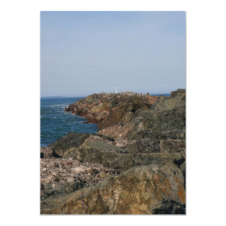 "Point of the South Jetty 5"" X 7"" Invitation Card"