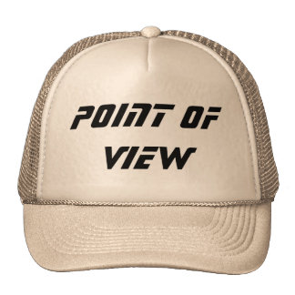 POINT OF VIEW CUSTOM CAP BY WASTELANDMUSIC.COM TRUCKER HAT