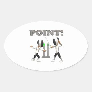Point Oval Sticker